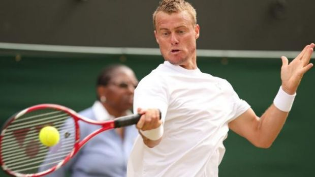 Lleyton Hewitt has made the semi-finals at Newport for the third year in a row.
