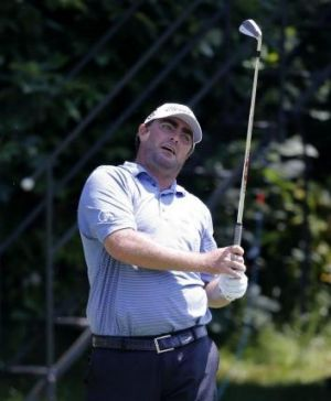 Steven Bowditch on the 16th hole during the first round of the 2014 John Deere Classic.