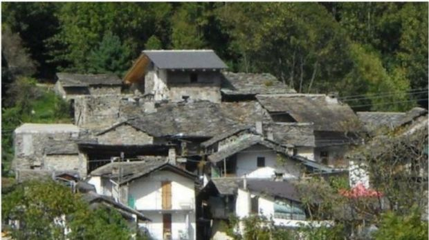 The village of Calsazio consists of 14 homes and is being sold for just $355,000.
