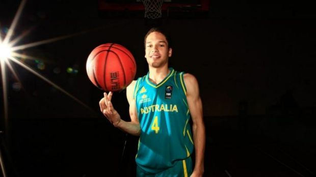 Tad Dufelmeier, whose father Tad snr is a Canberra Cannons legend, has scrimmaged with Dante Exum at the AIS.