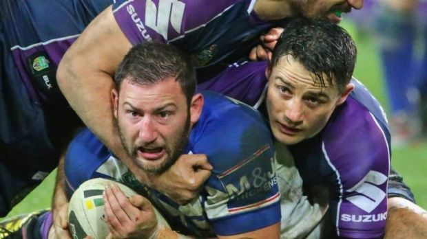 Star performer: Bulldogs fullback Mitch Brown was praised by coach Des Hasler for his efforts in Melbourne.