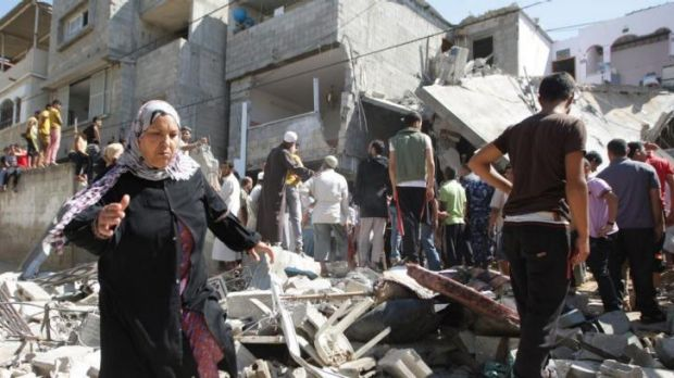 Gaza residents expressed fear, resignation and anger on Saturday over the air strikes.