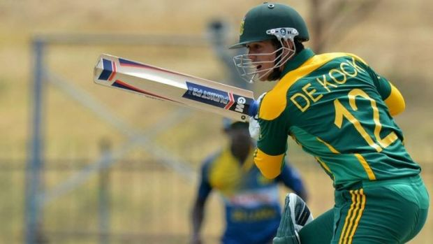 Quinton de Kock scored a classy century for South Africa.