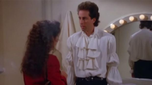 Unfortunately Seinfeld's puffy pirate shirt does not feature in his new campaign shots for Rag & Bone.