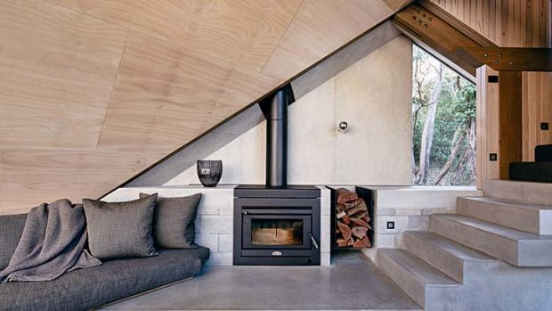 Red hot: Fireplaces aren't just heating devices anymore, they're also great living room features.