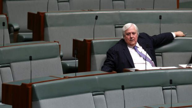 Palmer United Party leader Clive Palmer in the House of Representatives.
