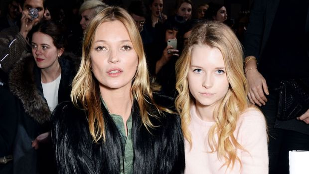 Kate Moss with sister Lottie at the Topshop parade at London Fashion Week earlier this year.