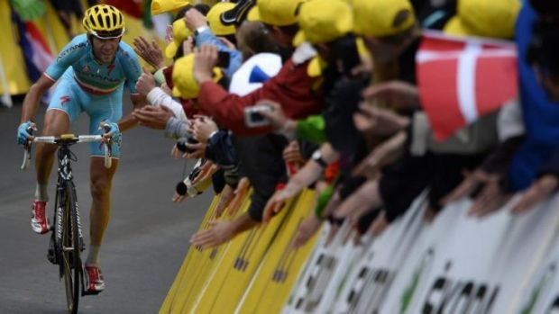 Signal of intent: Italy's Vincenzo Nibali broke away from other general classification contenders.