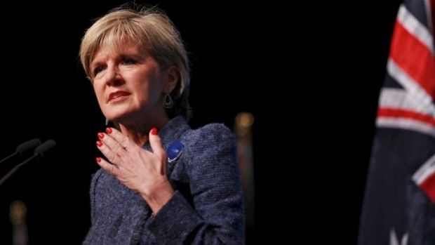 Australia foreign minister Julie Bishop: Beijing now suggests her comments made to Fairfax which drew a sharp rebuke in ...