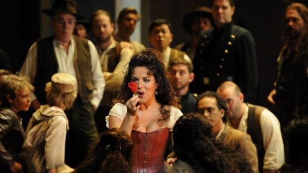 Carmen electric: Nancy Fabiola Herrera as Bizet's fiery gypsy.