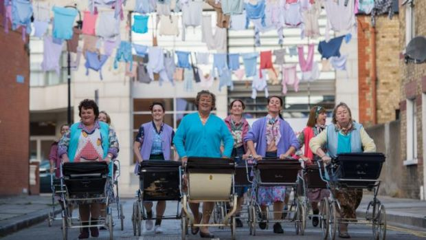 Musical: The pram-and-dance routine that opens the fim.