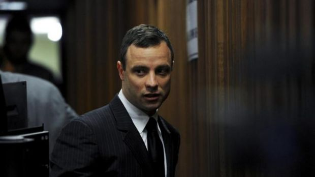 Oscar Pistorius in court during his trial.