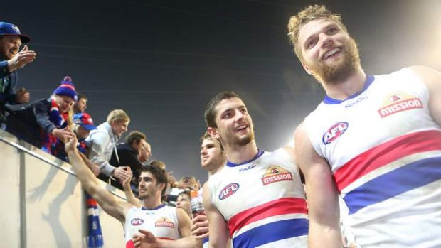Young pups: Some of the new breed of Footscray's finest.