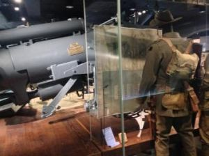 Australian soldier's uniform on display on display at the First World War galleries.