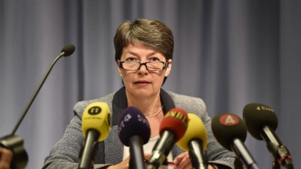 Prosecutor Marianne Ny after the court hearing in Stockholm.