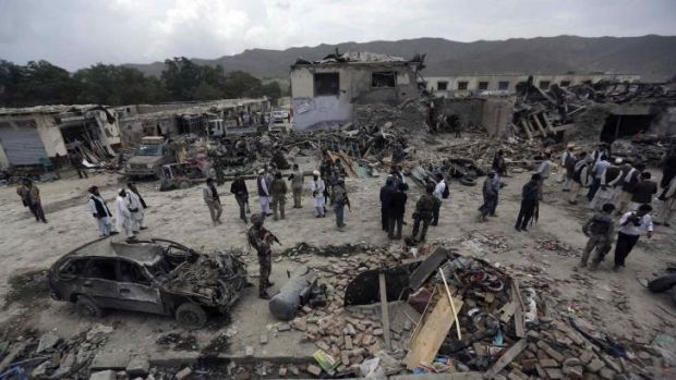 The aftermath of Tuesday's car bomb attack in Paktika.