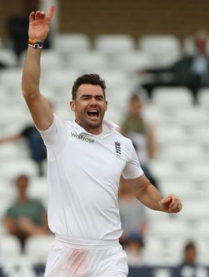 Investigated: England's James Anderson celebrates after taking the wicket of India's Ravindra Jadeja on the final day of ...