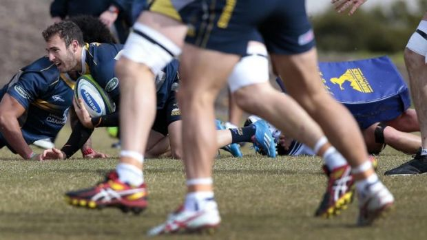 Nic White at Brumbies training on Thursday.