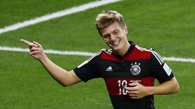 Unstoppable: Toni Kroos was part of a powerful German midfield.