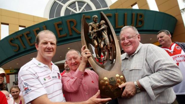 Steel City: Sean O'Connor with fellow Steelers and St George Illawarra board members Bob Millward and Peter Newell after ...