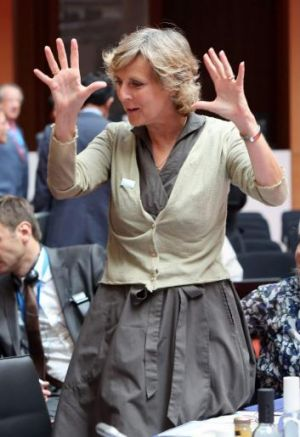 EU's Commissioner for Climate Action Connie Hedegaard in Berlin on July 14.