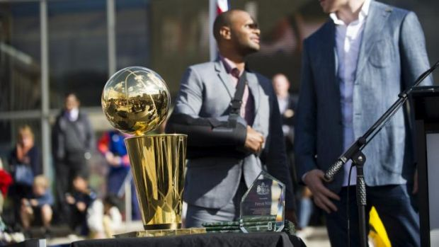 Patty Mills is awarded the keys to the city in a Civic reception on Friday.