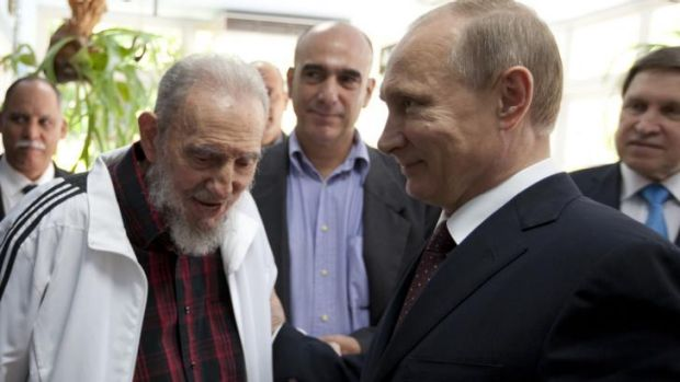 While in Havana last week Vladimir Putin met with former Cuban leader Fidel Castro.