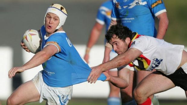 Justin Giteau during his time at the Queanbeyan Blues.