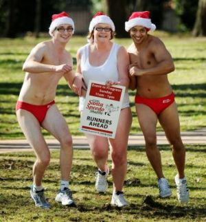 The 6500 Santa Speedo Shuffle fun run is on next weekend, with the donations going to Cystic Fibrosis.