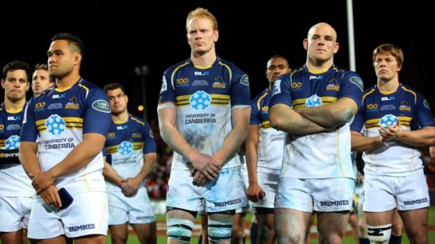 Brumbies players show their pain after last year's grand final loss.