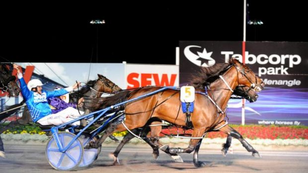On fire: Smoken Up and Lance Justice win the Miracle Mile by a nose in 2010.