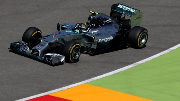 Rev: Nico Rosberg, of the Mercedes-Benz team, prepares for the German GP at Hockenheim.