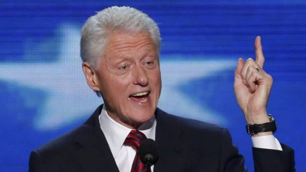 Former US President Bill Clinton is about to touch down for the AIDS convention.