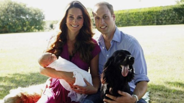 Family portrait when Prince George was first born.