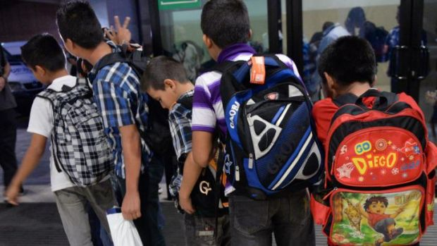 Guatemalan children caught in Mexico while trying to migrate into the United States.