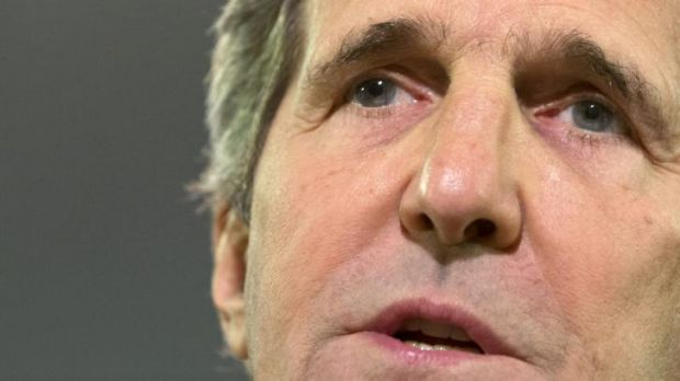 "US Secretary of State John Kerry says there is an ""enormous"" amount of evidence suggesting the missile that downed MH17 ..."