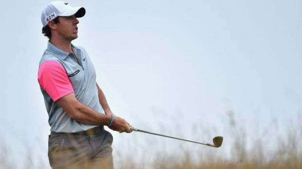 Rory McIlroy on the 13th hole during the final round of the 143rd Open Championship at Royal Liverpool.