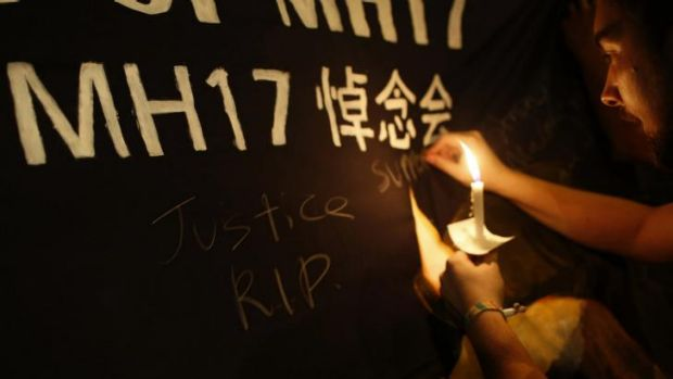 A candlelight vigil in Kuala Lumpur for the victims of flight MH17.