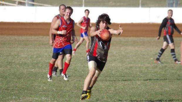 Happier times ... Tarryn Bowers in action on the field.