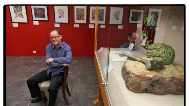 Unlocking the brain: Jim Chambliss among works on display at Melbourne University.