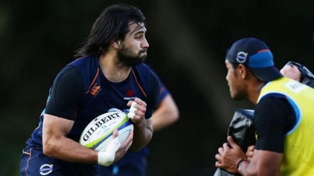 Jacques Potgieter, seen here during a Waratahs training session on Monday, is in the box seat for a return to the second row.