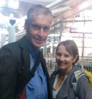 Roger and Jill Guard just before they left for Europe.