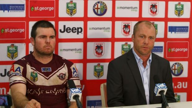 Nonplussed: Geoff Toovey would not confirm or deny reports Anthony Watmough and Brett Stewart asked to be released from ...