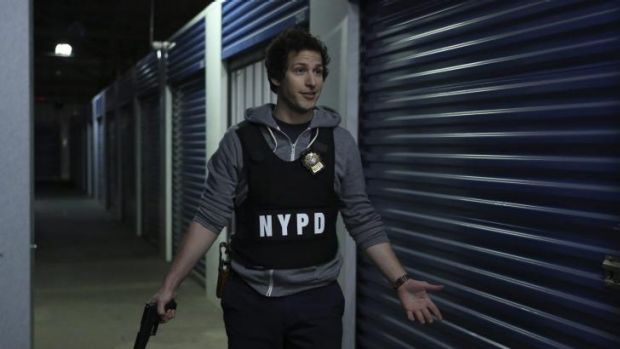 Jokes thick and fast: Andy Samberg stars as Detective Jake Peralta in <i>Brooklyn Nine-Nine</i>.