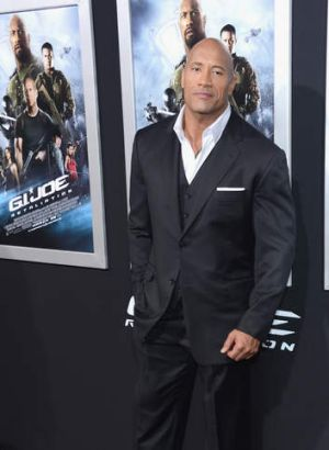 High earner: Dwayne 'The Rock' Johnson.