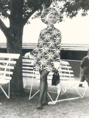 Stephanie Quinlan at the 1969 Melbourne Cup.