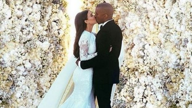 It took four days of editing to get this wedding photograph perfect, according to Kanye West.