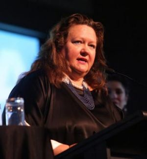 """Spend less time drinking or smoking and socialising, and more time working"": Gina Rinehart."