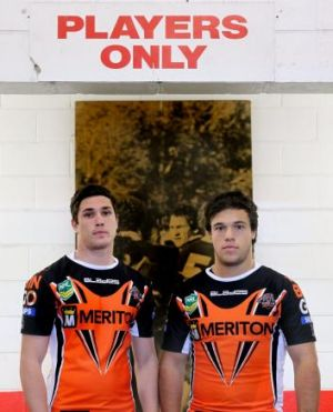 Changing of the guard: Mitchell Moses and Luke Brooks.