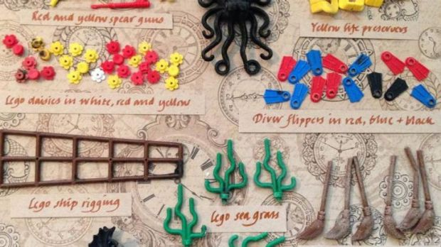 Buried treasure: A Lego ID guide showing some of the pieces to have fallen off the container ship in 1997.